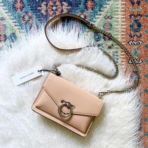 {rebecca minkoff} jean crossbody bag purse neutral
